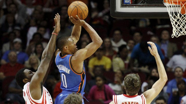 Thunder Beat Rockets For Second Straight, Lose Eric Maynor To Injury