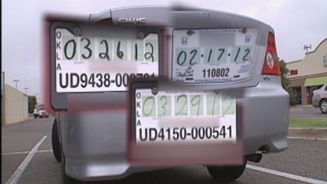 Oklahoma Drivers Caught Violating Tag Laws