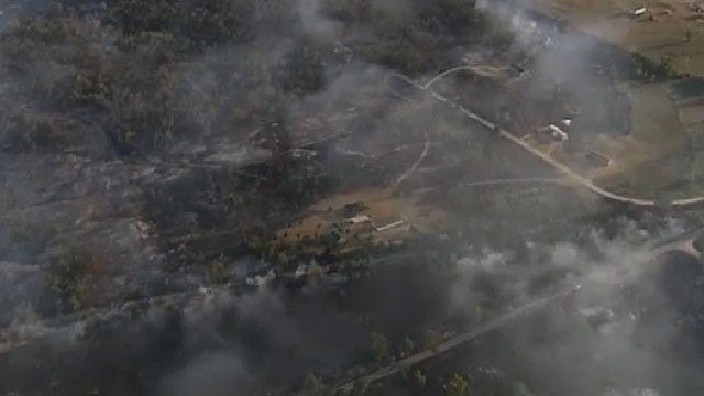 Grass Fire In Pottawatomie County Contained, Evacuees Return Home
