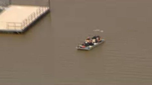 Emergency Crews Respond To Water Rescue At Oklahoma River