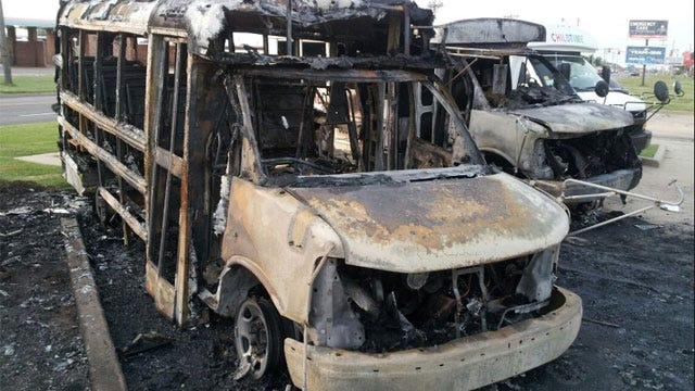 Arson May Be Behind Bus Fires At OKC Daycare