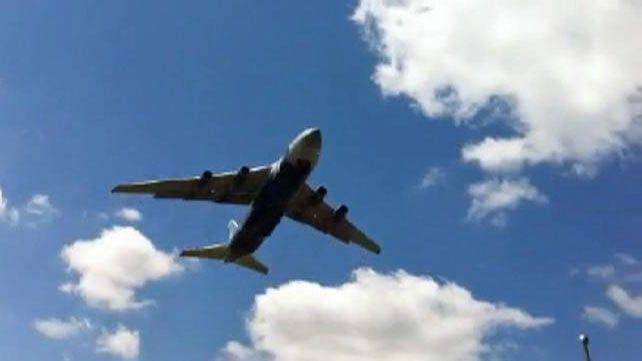 Giant Cargo Jet Leaves Tulsa International Airport