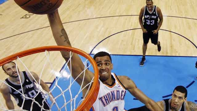 Thunder Rally To Down Spurs, Take Western Conference Title