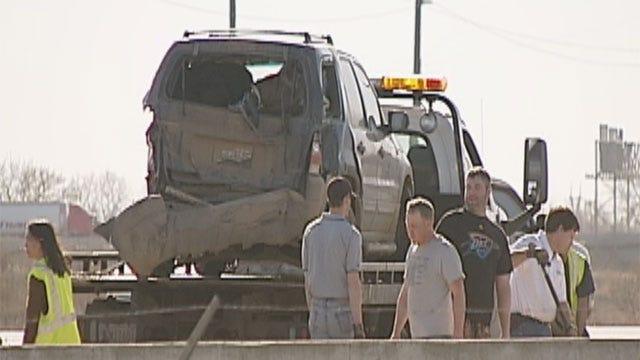 10-Car Pileup On Westbound I-40