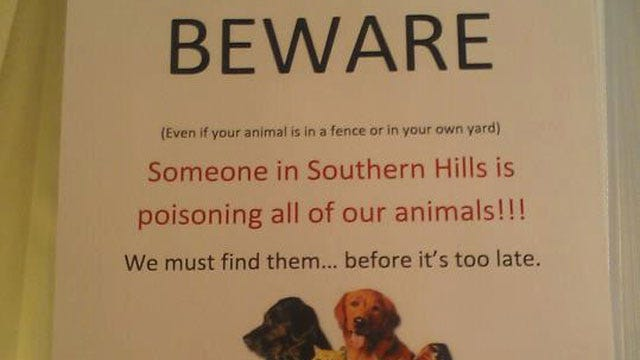 Tuttle Residents Worried Dogs Are Being Poisoned
