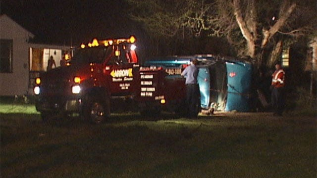 Driver Disappears After Crash In Northwest Oklahoma City