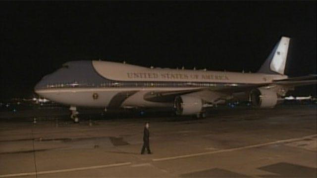 President Obama Arrives In Oklahoma