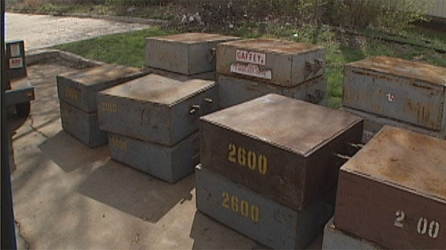 Men Arrested, Accused Of Stealing Crane Test Weights From OKC Business