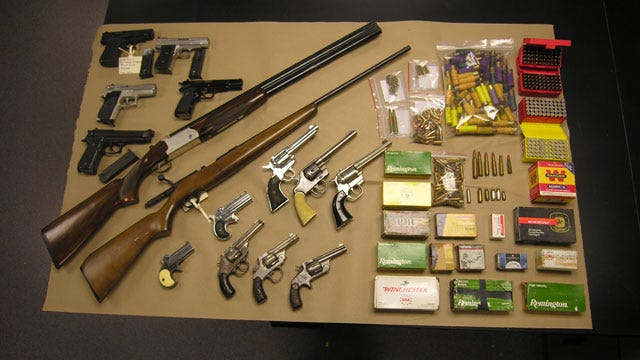 Authorities: Oklahoma Felon Found With A Cache Of Weapons
