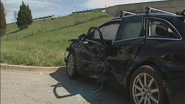 Pregnant Woman Crashes Off Southwest OKC Highway To Street Below