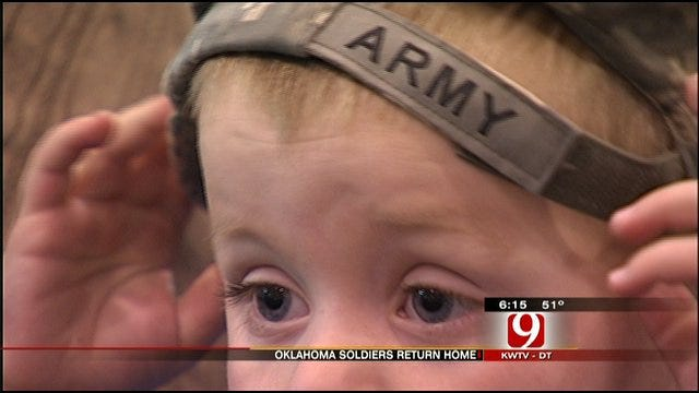 Group Of Oklahoma National Guard Soldiers Returned Home Saturday