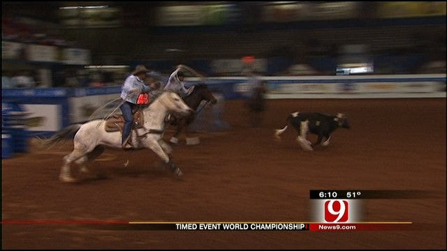 Timed Event Championship of the World Underway At Lazy E Arena In Guthrie