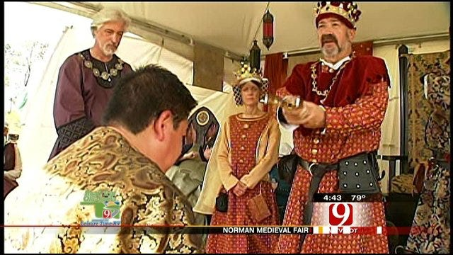 Darren Brown Gets Knighted At Norman Medieval Fair