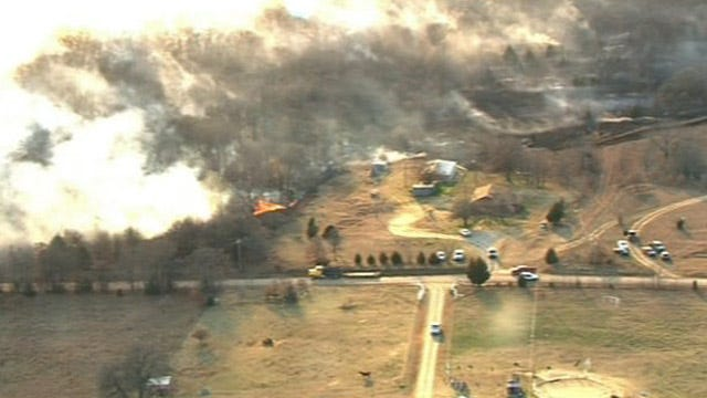 Fast Moving Grass Fires Moved Across Oklahoma