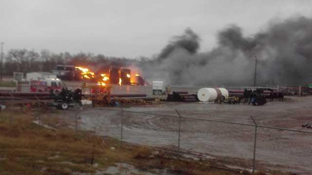 Lightning Sparked Fire Contained At Oil Storage Tank In OKC