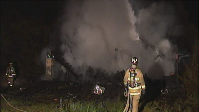 Fire Destroys Home In Rural Southeast Oklahoma County