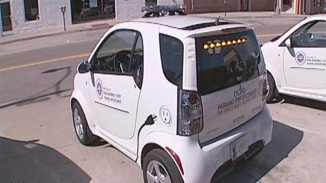 """OKC Police Roll Out """"Green"""" Parking Enforcement Cars"""