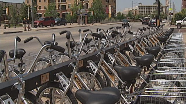 Bicycle Share Program Begins In Downtown OKC