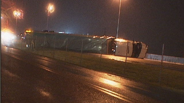 I-35 Southbound In Norman Back Open After Semi Crash
