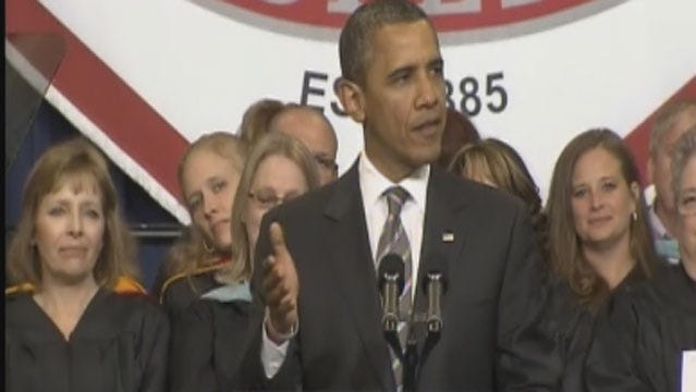 President Obama Speaks At Joplin's High School Graduation