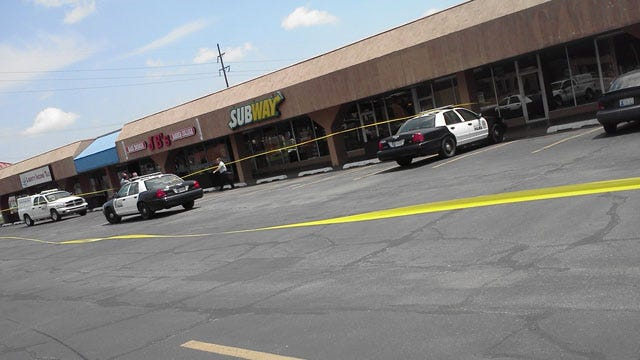Gunman Robs Subway In Southwest OKC, Crashes Car Into Tree