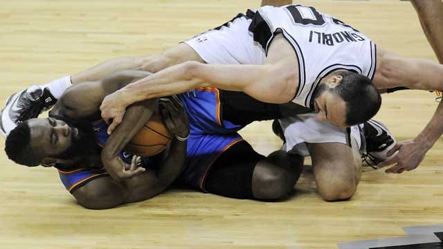 San Antonio Grinds Out Game One Win Over Thunder