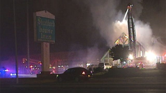 Guests Escape From Burning Motel In Edmond