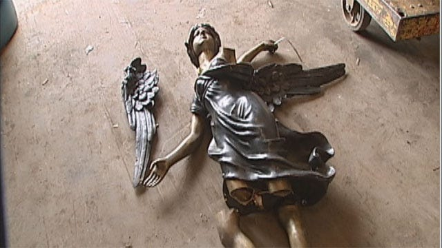 OKC Police Hope To Track Down Owner Of Stolen Angel Statue