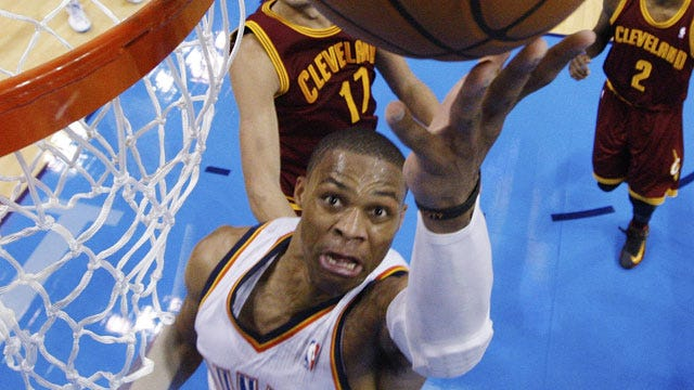 Westbrook Leads Thunder Past Cleveland