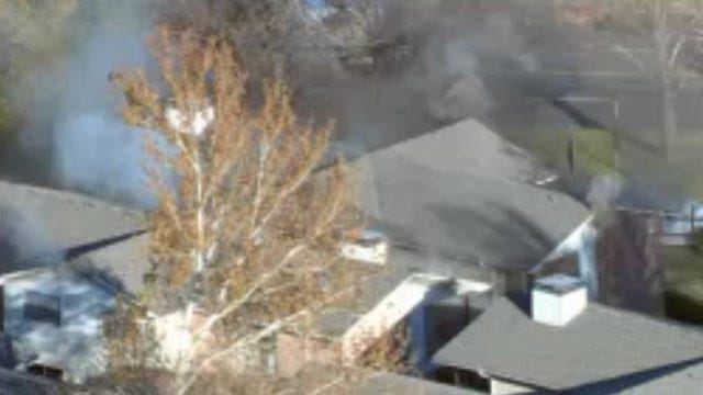 Fire Crews Contain Apartment Fire In Southeast OKC