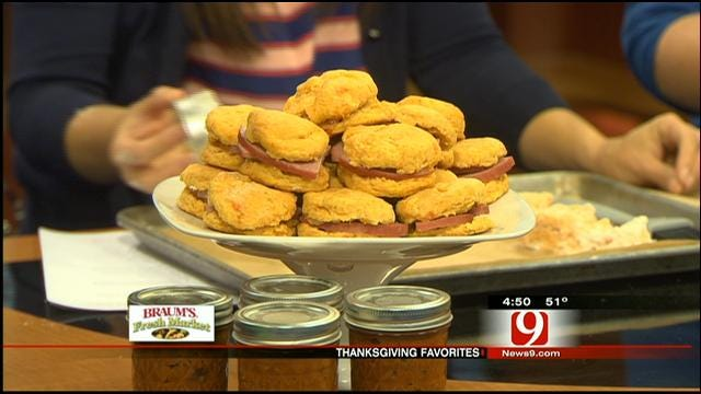 Sweet Potato Biscuits With Ham and Honey Butter