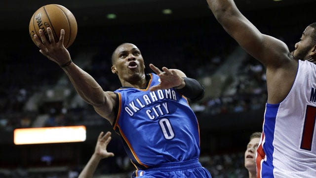 Westbrook, Thunder Squeaks By Winless Detroit