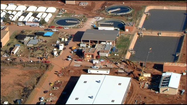 Crews Rescue Worker Trapped At Moore Water Treatment Plant