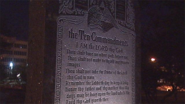 Misspellings Mark Ten Commandments Monument At Oklahoma State Capitol