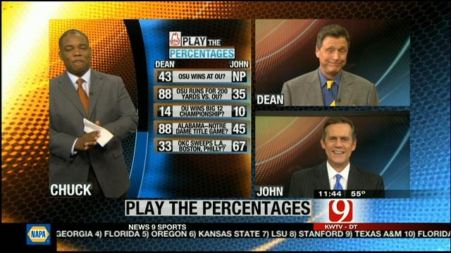 Play The Percentages: November 18, 2012