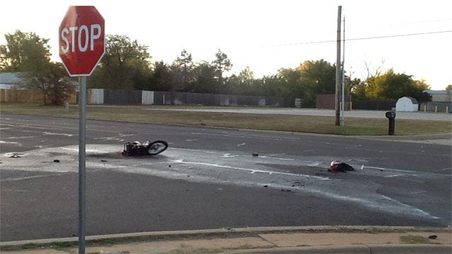 Teen Motorcyclist Critically Injured Following Crash In Midwest City