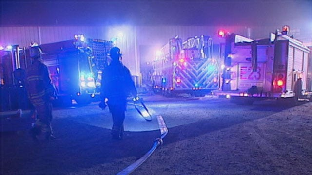 Firefighters Knock Down Small Fire At SE OKC Business