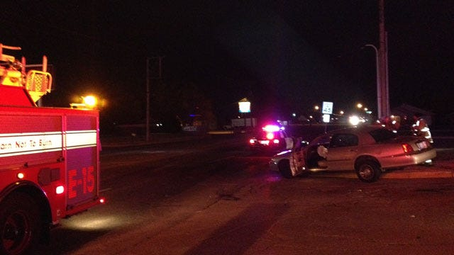 Police Officer Involved In Wreck In North OKC