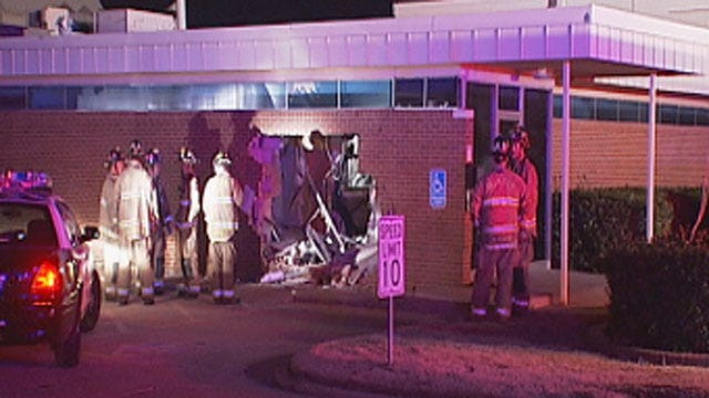 Man Killed After Crashing SUV Inside Building In NW OKC