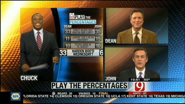 Play The Percentages: November 25, 2012