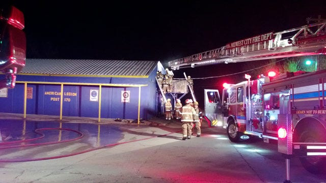 Crews Extinguish Fire At Midwest City Business