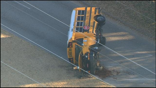 Driver Runs From Scene After Crashing Into School Bus In NW OKC