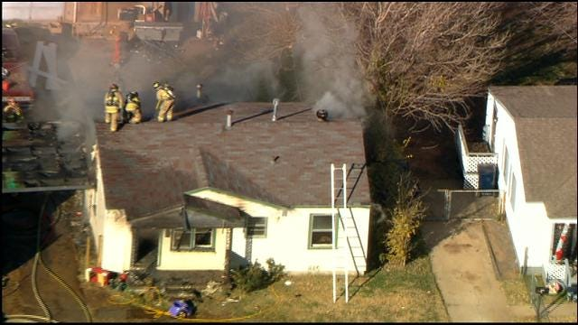 Firefighters Extinguish House Fire In Southwest OKC