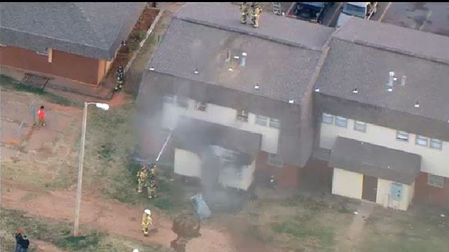 Crews Extinguish Fire At SW OKC Apartment Complex