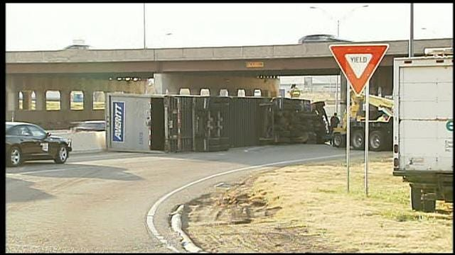 Ramp From Westbound I-240 To Southbound I-35 Reopens After Semi Accident
