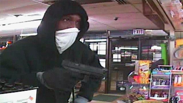 Surveillance Camera Catches Gunman Robbing NW OKC Convenience Store