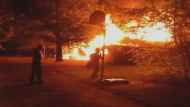 Fire Sweeps Through Northeast OKC Home Overnight