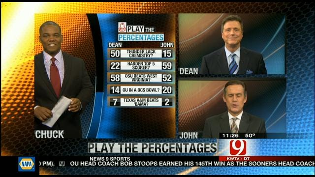 Play The Percentages: November 4, 2012