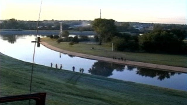 Woman Swims To Safety After Car Goes Into Canal Near Downtown OKC