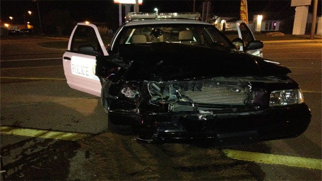 Moore Police Officer Injured In Collision